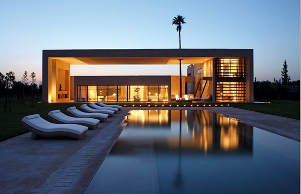 L 39 immobilier et l 39 architecture au maroc for Architecture de villa moderne